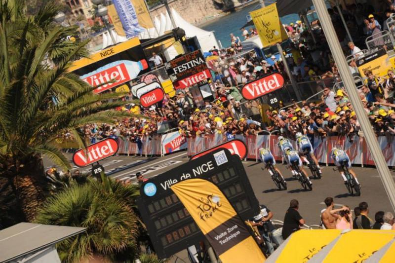 Arrivée étape Nice Tour de France