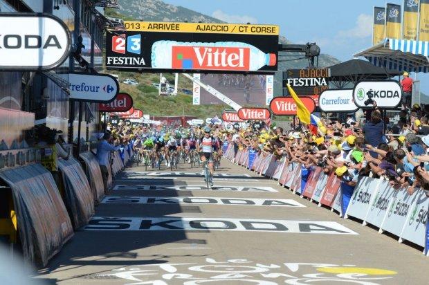 Arrivée Tour de France Corse