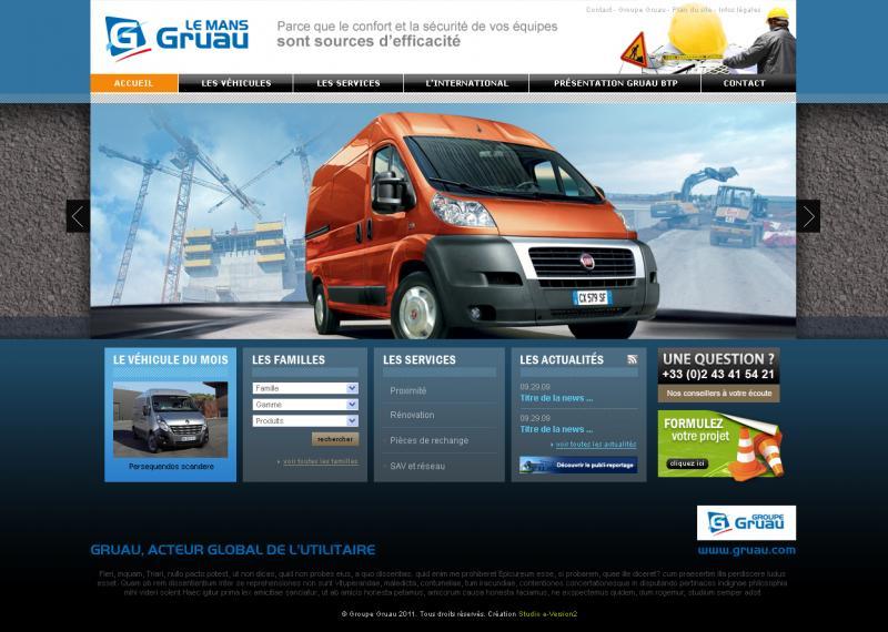 Page accueil site Gruau BTP