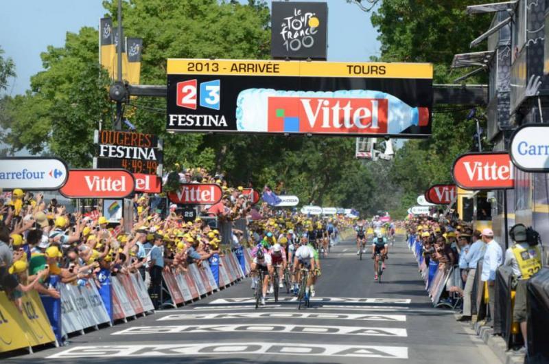 Arrivée du Tour de France à Tours