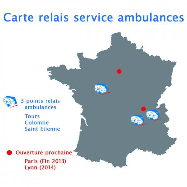 Carte relai service ambulance Ambulance Petit gruau