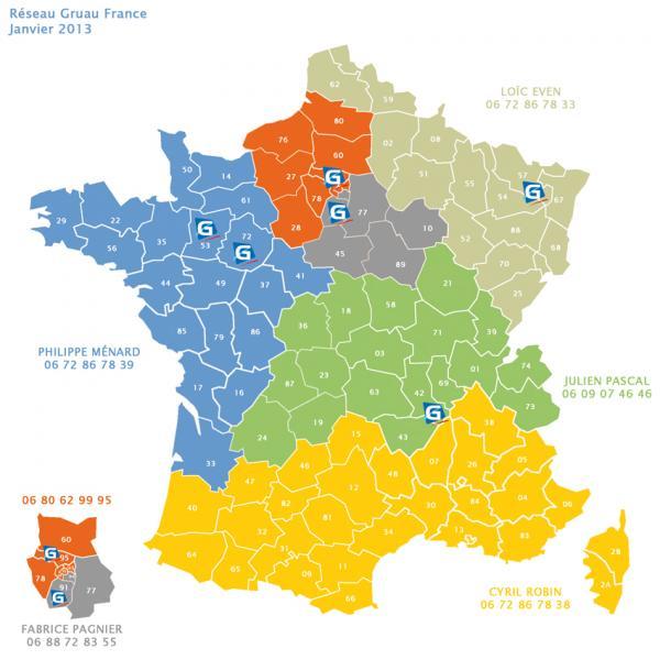 carte du réseau Gruau janvier 2013