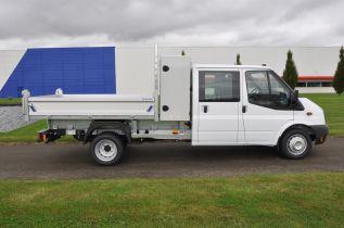 Vehicule de liaison - Benne Acier galvanise/ridelles aliminium - Gruau BTP
