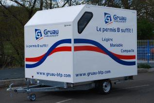 Vehicule de liaison - remorque 750 kg - Gruau BTP